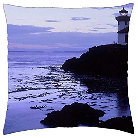 Lime Kiln Point State Park Lighthouse - Throw Pillow Cover Case (16