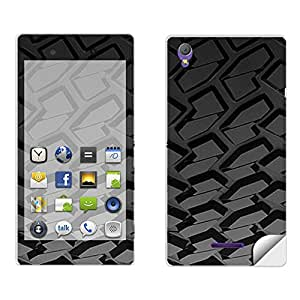 Skintice Designer Mobile Skin Sticker for Sony Xperia T3, Design - Car Tyre