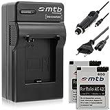 2x Batteries + Chargeur (Auto/Secteur) pour Rollei Actioncam AC 420 // Action Cam - Caméscope action - Caméra sport