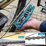 Lorenlli Pulitore per Bicicletta Portatile per Bicicletta Pulire la Bici Pulire Le spazzole Lavare l'attrezzo Strumento per Pulire la Bicicletta in Montagna