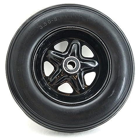 Schubkarrenrad 3.5-8 Vollgummi schwarze Felge Schubkarrenreifen Ersatzrad Reifen