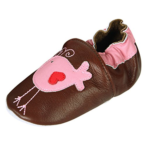 CHIC-CHIC- Chaussures Bébé - Chaussons Bébé - Chaussons Cuir Souple - Chaussures Cuir Souple - Chaussures Premiers Pas - Chaussures Bébé Fille Chaussures Bébé Garçon (18-24 mois)