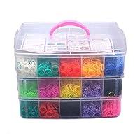 NUOLUX 7500pcs Colorful Rubber Loom Bands Box Set DIY Bracelet Kit