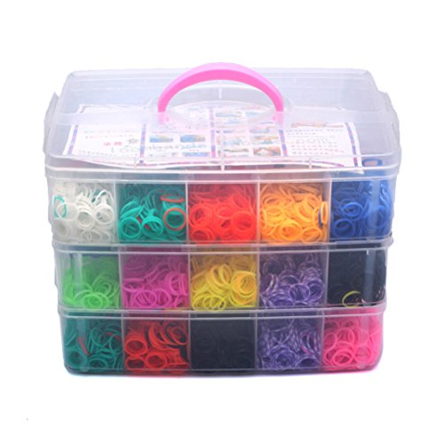 VORCOOL Bunte Gummi Loom Bands Box Set - 7500pcs