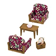 Epoch Sylvanian Families Sylvanian Family Living Room Arm Chair Sofa set KA-509 (japan import)