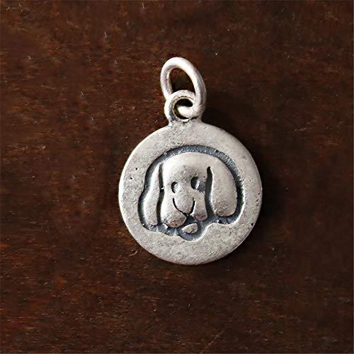 Baijuxing collana originale fatta a mano s925 ciondolo in argento con corda intrecciata portafortuna a forma di gatto animale catena clavicola regalo maglione, u