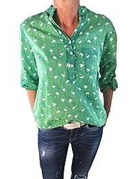 Tim Collins Damen Bluse Reine Baumwolle Vintage-Look Langarm Tunika Shirt  Fischerhemd Batik Flamingo… c9beff5c75