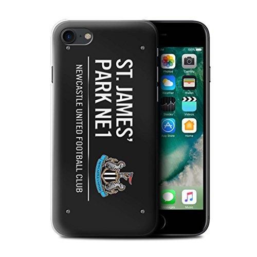 Officiel Newcastle United FC Coque / Etui pour Apple iPhone 7 / Noir/Bleu Design / St James Park Signe Collection Noir/Blanc