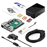 ABOX Raspberry Pi 3 Modello B+ (plus) Starter Kit Barebone Madre con SanDisk Micro SD Card 32GB Class 10, Custodia e Power Supply 5V 2.5A con Interruttore