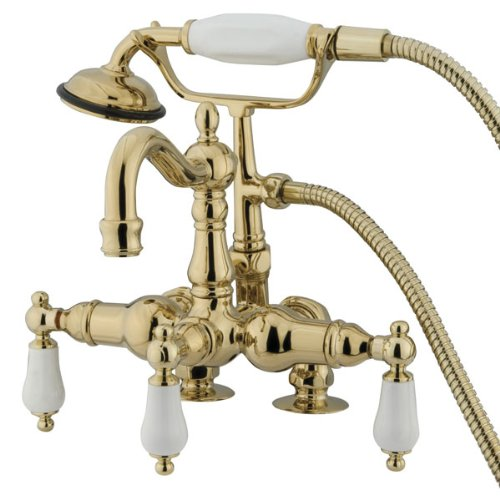 Leg Tub (Kingston Brass CC1015T2 Heritage Vintage 3-3/8-Inch Leg Tub Filler with Hand Shower, Polished Brass by Kingston Brass)