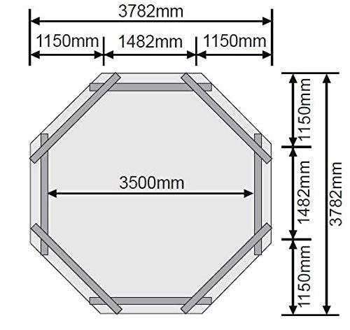 Holzpool Set 4,00 x 1,20 m mit Tiefbeckenleiter aus Edelstahl - 2