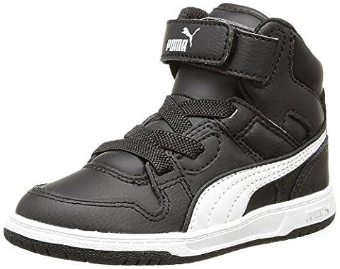 Puma Rebound Street L, Baskets mode mixte enfant - Noir (Black/White), 26 EU (8.5 UK)