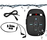 from Sigomatech Sigomatech 8GB waterproof swimming mp3 player with short cord headphones(3 type swimbuds), with audio extension cord for sort of sports, Shuffle feature(Black) Model SGWP02-BK