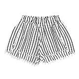 Damen Shorts,Btruely Frau Blumen Drucken Hohe Taille Spitze Shorts Sommer Kurze Hosen (Asien Größe:XL, Weiß)