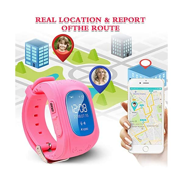 TurnMeOn Smart Watch Phone For Kids Boys Girls GPS Children Fitness Tracker Smartwatch Birthday Gifts With SIM Calls Anti Lost SOS Voice Chat Bracelet Wrist Watch For Christmas Android IOS APP