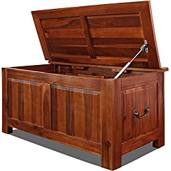 Holztruhe Sitzbank Auflagenbox Couchtisch Tischtruhe Aufbewahrungsbox Holzkiste Truhe 85x44x48cm