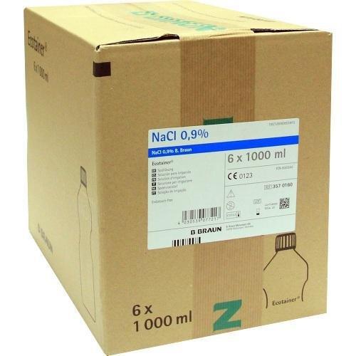 Preisvergleich Produktbild Kochsalzlösung 0,9% B.Braun Spüllsg.Ecotainer, 6X1000 ml