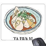 Lebensmittelbehälter, rechteckig, Taiwan, rutschfestes Gummi-Mauspad, Geschenk