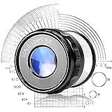 Loupe 10X HD tenue dans la main de lentille pour avec l'identification de mesure d'échelle Identification de Loupe de bijoux de Wenwan, montres, montres de bricolage sculpture et réparation, noir 42 *