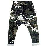 BEZLIT Kinder Jungen Camouflage Pump Pluder Harems Aladin Baggy Stoff Lange Hose 21045 Grün Größe 164