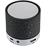 Shiank Wireless LED Mini Bluetooth Speaker With Disco Lights USB Plug & Play Fm Radio MicroSd Slot MP3 Player Portable Car Audio Player Compatible With All Android, IOS And Windows Devices (Color May Vary) - B07FQLJ937