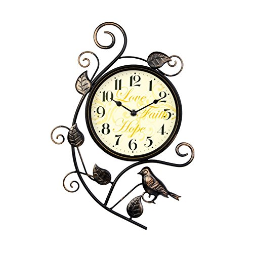 ZWL Creative Iron Birdie Taschenuhr Retro Mute Wanduhr Wohnzimmer Schlafzimmer Einfache Uhren und Uhren 26.5 * 39CM fashion ( Farbe : #1 ) (Birdie Bell)