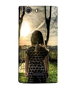 Snapdilla Designer Back Case Cover for Micromax Canvas 5 E481 (Wood Home Backyard Lawn Light )