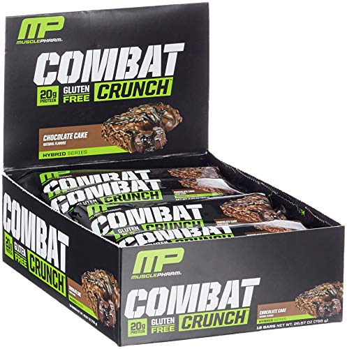 Protein Mahlzeit Bar (MusclePharm Combat Crunch Bars (12x63g) Chocolate Cake, 756 g)