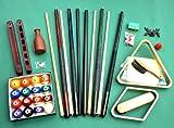 nanook Billard Américain Kit d'accessoires avec queues, billes de billard, triangle, tapis et autres
