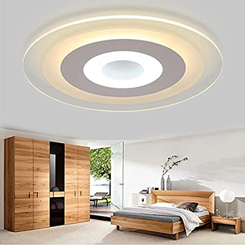 NHD-Led slim living room minimalist bedroom lamp ceiling lamp, acrylic round room restaurant, decorated in the study lamp , 62cm
