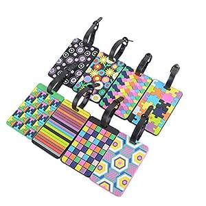 Tomkity Viaggio bagagli Tag valigia bagagli Bag Tag ID viaggio borsa Tag Airlines bagagli etichette Pack di 8