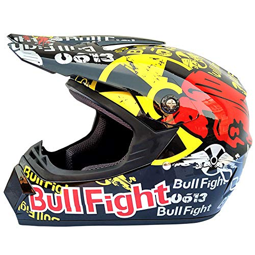 Wansheng Adulto Motocross Casco MX Moto Casco Scooter ATV Casco Carretera Carrera...