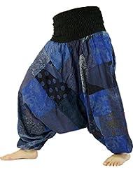 Aladinhose Patchwork Pluderhose, Hippie Hose blau / Pluderhosen und Aladinhosen