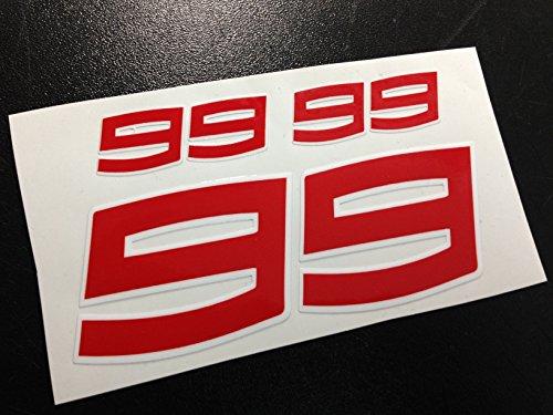 PEGATINAS 99 LORENZO MOTO GP ECO32 STICKERS AUFKLEBER VINILOS ADESIVI AUTOCOLLANTS (COLORES...