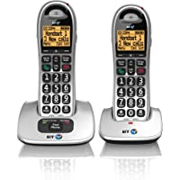 BT 4000 Cordless Big Button Phone with Nuisance Call Blocker - Pack of 2