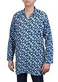 Viniyog Men Printed Cotton Blue Short Ku...