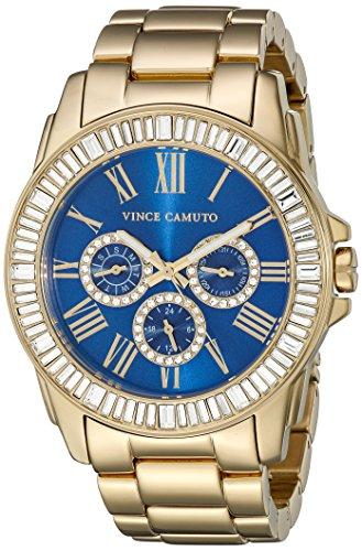 vince-camuto-para-mujer-reloj-infantil-de-cuarzo-con-azul-esfera-analogica-y-dorado-correa-de-acero-