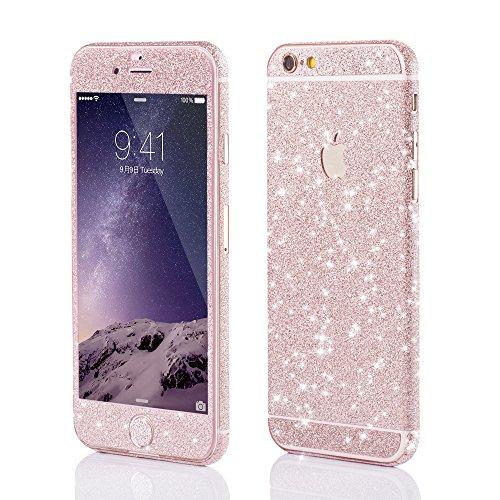 VAPIAO Glitzerfolie Skin Protector Schutzfolie für Apple iPhone 6, 6s in Rose