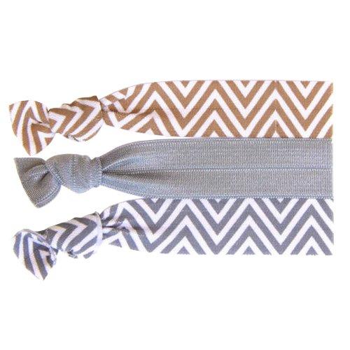 Twistband Haarbänder Neutral Chevron, 1er Pack (1 x 3 Stück)