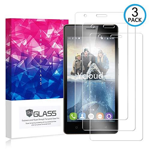 Ycloud [3 Pack] Bildschirmschutzfolie für Oukitel C4, Staubdichter, kratzfester Bildschirmschutz für Oukitel C4