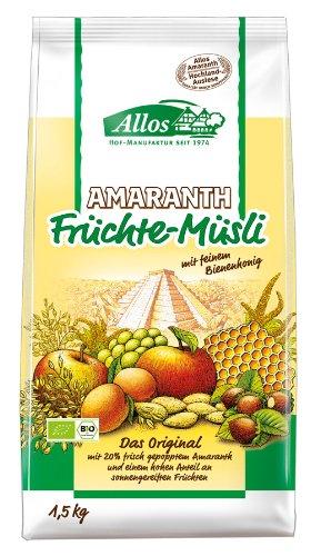 Allos Amaranth-Früchte-Müsli, 1er Pack (1 x 1.5 kg)