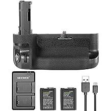 Neewer agarre Vertical de batería Kit para Sony A7II A7R II, incluye VG-C2EM empuñadura de batería de repuesto (sin mando a distancia), 2piezas 1100mAh reemplazo FW50Li-ion baterías y cargador doble