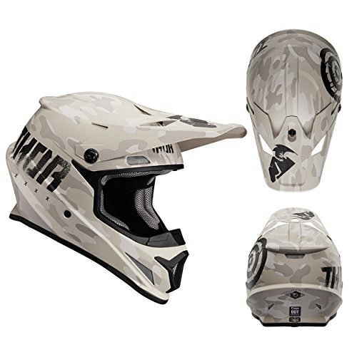 Thor Crosshelm Sector Covert Sand Motocross Enduro MX Helm matt braun Gr. XL (Thor Racing)