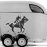 malango® Polo Spieler und Pferd Aufkleber Auto Autoaufkleber Sport Reitsport Reiten Design Styling 40 x 34 cm gold gold 40 x 34 cm