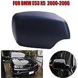 Sengear Carcasa de Espejo Retrovisor-Negro Mate 1 Par(sin luces) Lado Derecho para 2000-2006 BMW E53 X5 (51168256322)