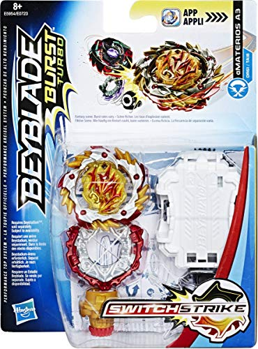 Beyblade Burst Turbo - Starter Pack Toupie et Lanceur Switchstrike - Amaterios A3