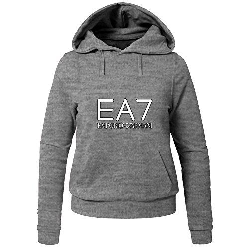 Hot EA7 Emporio Armani Hoodies -  Felpa con cappuccio  - Donna Gray XX-Large