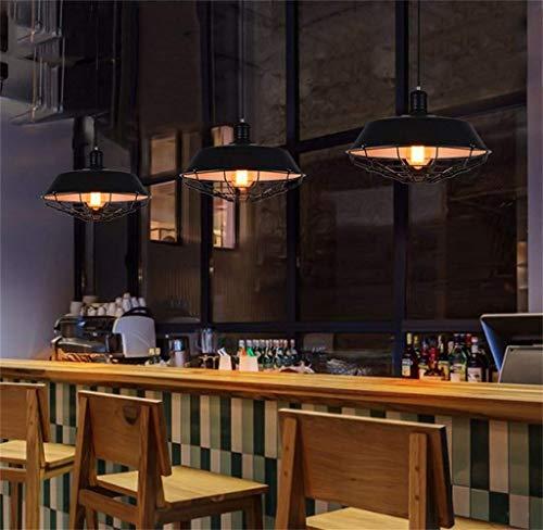 WHKHY Nordic Industrial Wind Vintage Anhänger Schmiedeeisenwlobby Eatery Flush Coffee Club, Büro Foyer Minimalist Anhänger Anhänger Anhänger Abdeckung Beleuchtung Design: (5210),5012 -