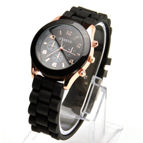 gold-trim-quartz-rubber-silicone-wrist-watch-for-unisex-men-womens-black-christmas-xmas-birthday-pre
