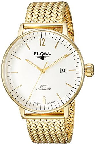 ELYSEE Made in Germany Sithon Automatik 13281M 42mm Automatic Gold Plated Stainless Steel Case Mesh Mineral Men's Watch